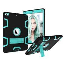 iPad 9.7 (2017) Tok Ütésálló 2in1 Heavy Duty Series RMPACK Kitámasztható Fekete/Cián