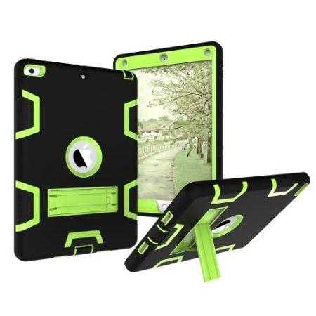 iPad 9.7 (2017) Tok Ütésálló 2in1 Heavy Duty Series RMPACK Kitámasztható Fekete/Zöld