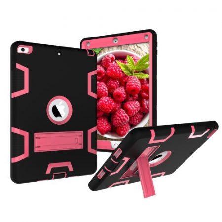 iPad 9.7 (2017) Tok Ütésálló 2in1 Heavy Duty Series RMPACK Kitámasztható Fekete/Pink