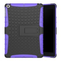 iPad 9.7 (2017) Ütésálló Tok 2in1 Tire Slip Kitámasztható Csúszásgátlókivitel Lila