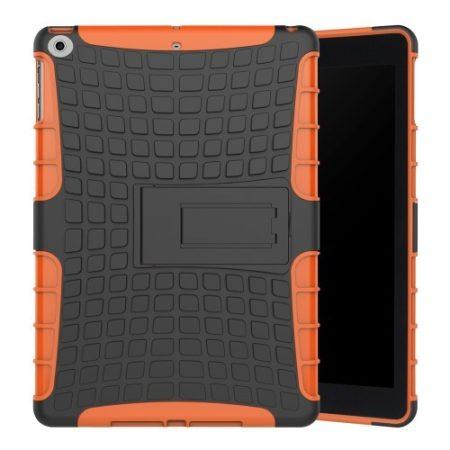 iPad 9.7 (2017) Ütésálló Tok 2in1 Tire Slip Kitámasztható Csúszásgátlókivitel Narancssárga