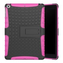 iPad 9.7 (2017) Ütésálló Tok 2in1 Tire Slip Kitámasztható Csúszásgátlókivitel Pink