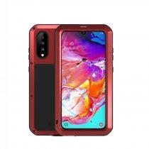 Samsung Galaxy A70 Ütésálló LOVE MEI Tok Dust-proof Csepp-Por-Ütésálló Piros