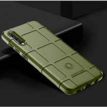 Samsung Galaxy A70 Ütésálló Szilikon Tok Rugged Armor KatonaZöld